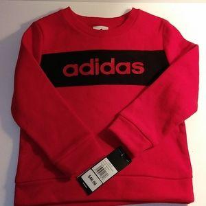 NWT Adidas Sweatshirt Red Toddler 3T